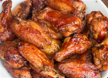 Foto Chicken Wings in BBQ saus 10 stuks menu